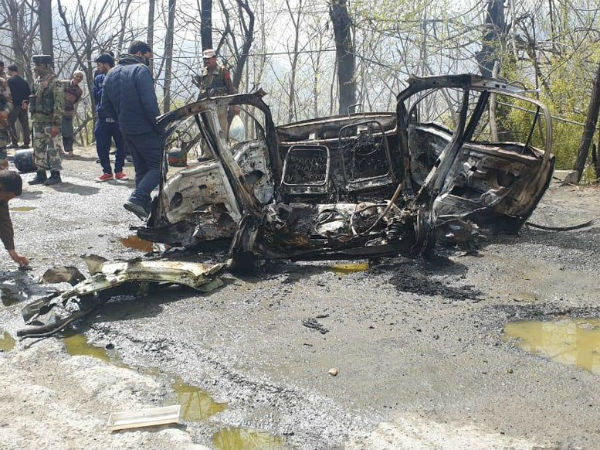 A blast has occurred in a car near CRPF vehicle in Banihal Ramban