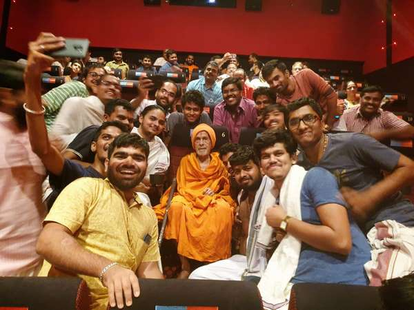 Pejawara Swamiji and others watched bollywood film Uri