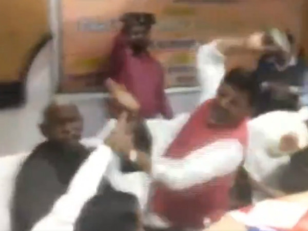 BJP MP and MLA had fight with slippers in UP