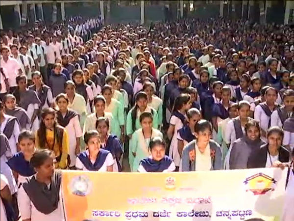 Students At Haveri And Channapatna Have Congratulated Abhinandan