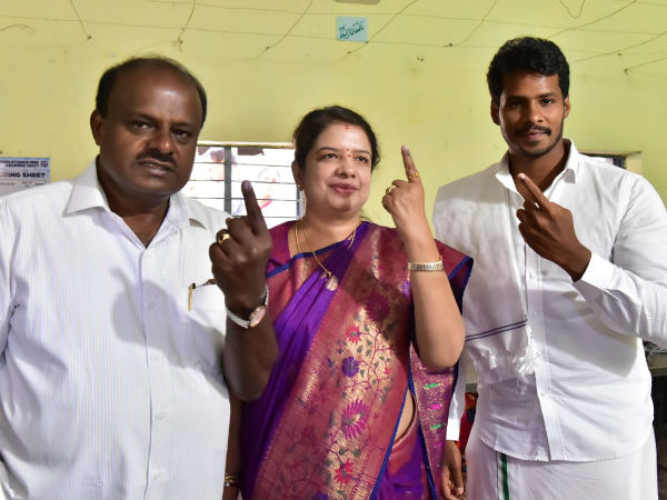 HDK and wife Anitha are not going to cast their vote to Nikhil Kumaraswamy