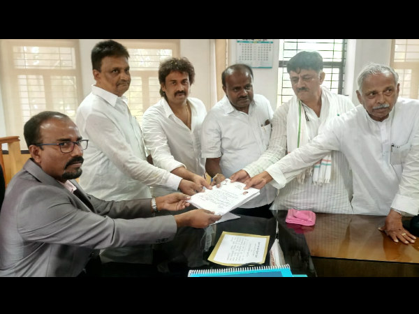 Madhu Bangarappa filed nomination today with his supporters