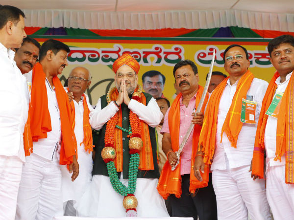 Amit Shah road show in Hubli and Shimoga