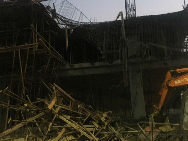 2 killed and 4 injured as an under-construction building collapses at Bengaluru