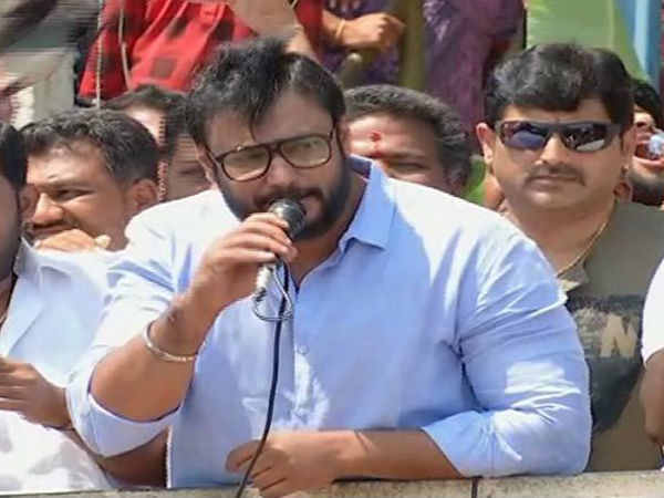 Challenging Star Darshan started campaign in favor of Sumalatha
