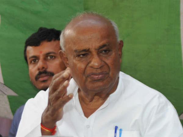 Prime minister must choose his words care fully: Deve Gowda