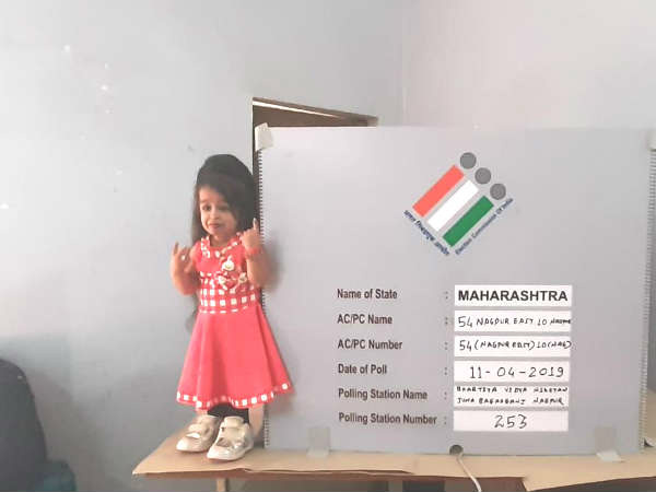 Worlds smallest woman casts her vote in Nagpur, Maharashtra
