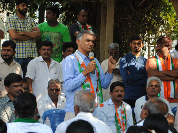 Krishna Byre Gowda election campaign in Hebbal assembly constituency