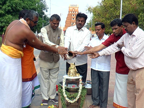 People have worshiped Lord Shiva in Chamarajanagar for the rain