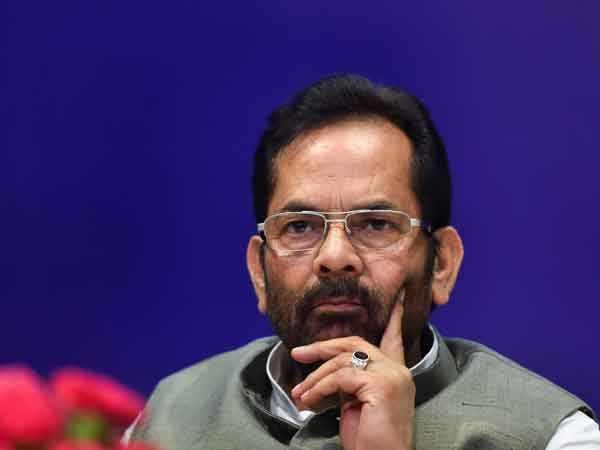 Mukhtar Abbas Naqvi booked for calling Azam Khan 'Mogambo'