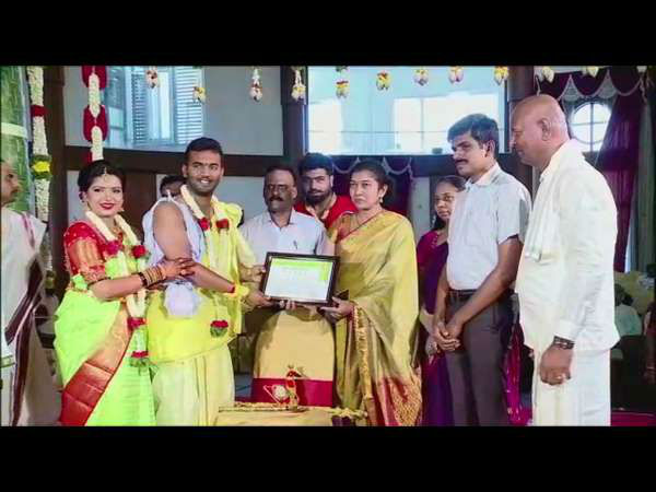 Clean city Mysuru witnessed a plastic free wedding