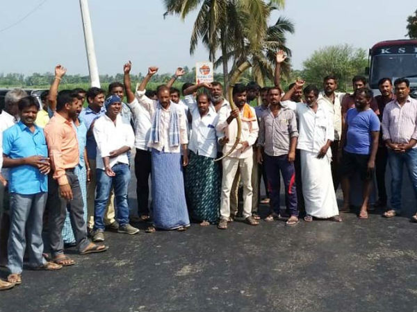 Ambareesh fans protested against MP L.R.Shivarame Gowda
