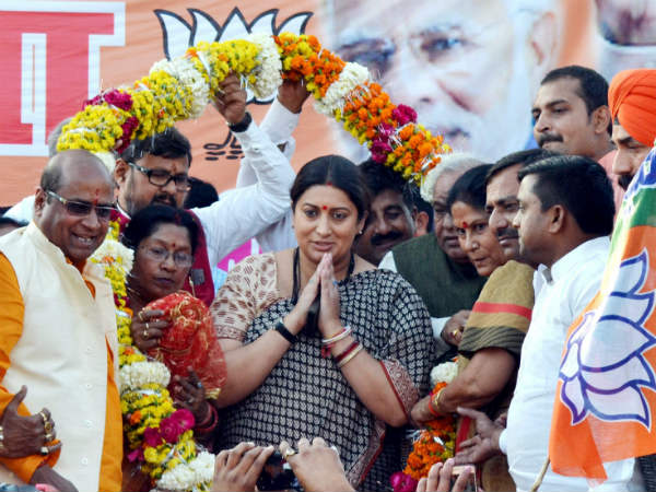 Smriti Irani to file her nomination tody