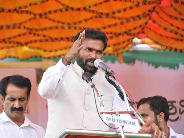 Pushing H Anjaneya on the stage showing untouchability: Sriramulu