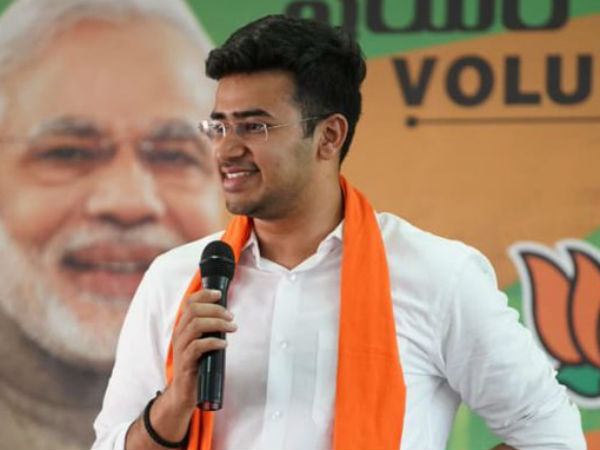 Influencing voters on poll day : FIR against Tejasvi Surya