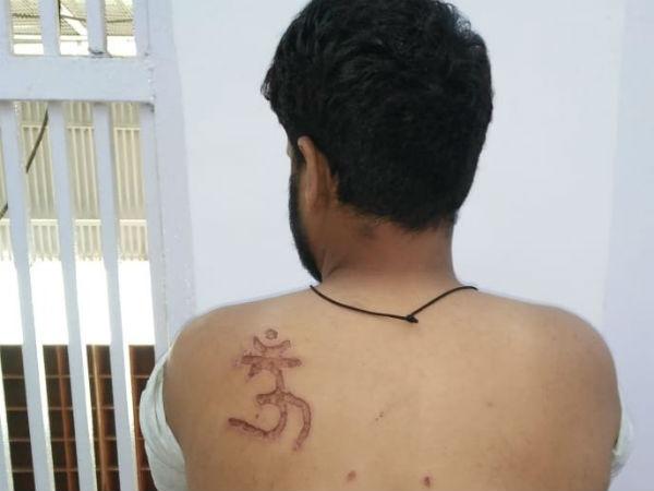 ಅಮಾನವೀಯ: ಮುಸ್ಲಿಂ ಖೈದಿಗೆ ಓಂ ಚಿಹ್ನೆ ಬರೆ ಹಾಕಿದ ಜೈಲು ಅಧಿಕಾರಿ