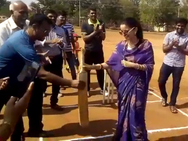Princess Trishika Kumari Singh played cricket match