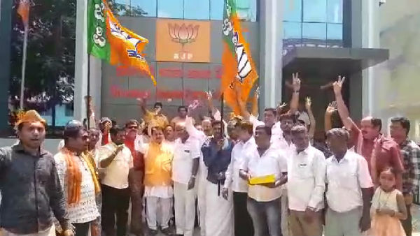 Pratap simha close to victory celebration by activists