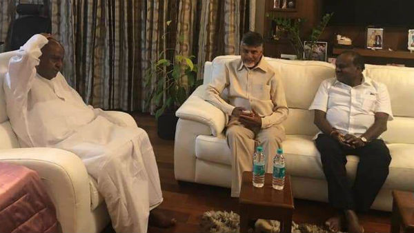ಕುಮಾರಸ್ವಾಮಿ-ದೇವೇಗೌಡರ ಹುಡುಕಿಕೊಂಡ ಬಂದ ಚಂದ್ರಬಾಬು ನಾಯ್ಡು
