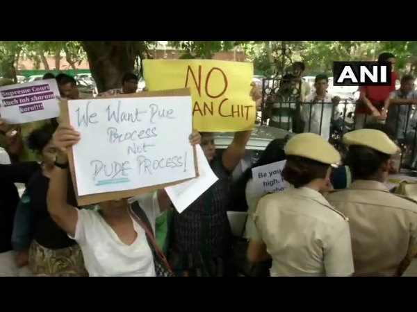 women lawyers activists protest outside supreme court against clean chit to CJI Ranjan gogoi