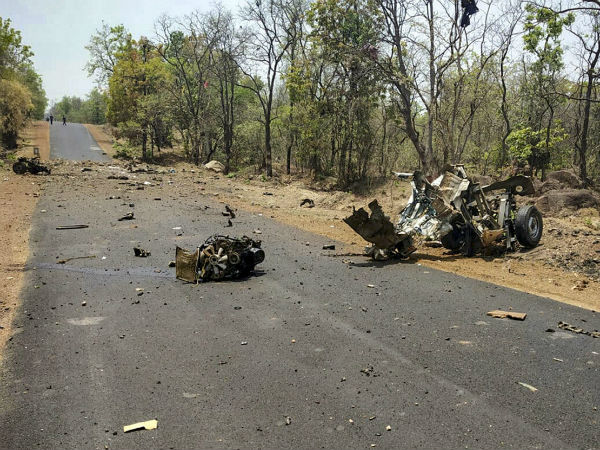naxals killed 16 security personnel in maharashtra gadchiroli district