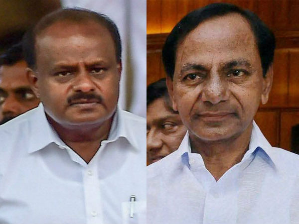 Telangana CM KCR speaks to HD Kumaraswamy about Third front