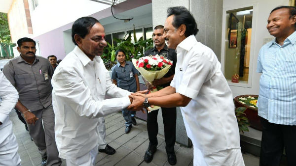 KCR meets Stalin in Chennai before LS poll results