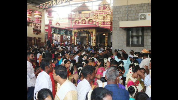 Mass marriage held in Sree Kshethra Kateelu Sunday