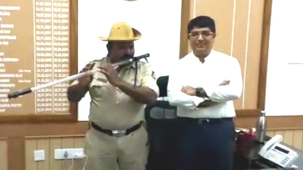 Meet police constable Chandrakant Hutgi who converted Lathi into a flute