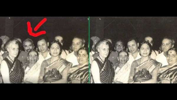 A Fake photo of Narendra Modi with Indira Gandhi is serculating in social media