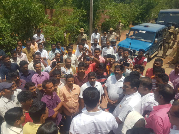 Protest against HPCL in Belthangady