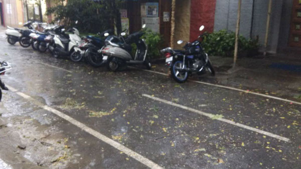 Heavy rains in Bengaluru along with thunderstorm