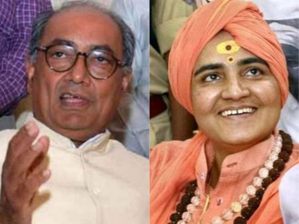 EC notice to Digvijaya Singh, Sadhvi Pragya Thakur over poll expenditure