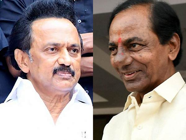 MK Stalin does not ready to meet Telangana CM K Chandrashekhar Rao for third front