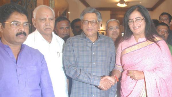 ಯಡಿಯೂರಪ್ಪ, ಎಸ್.ಎಂ.ಕೃಷ್ಣ ಭೇಟಿಯಾದ ಸುಮಲತಾ ಅಂಬರೀಶ್