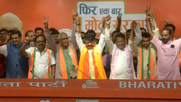 Two TMC MLAs and one CPM MLA from West Bengal join BJP