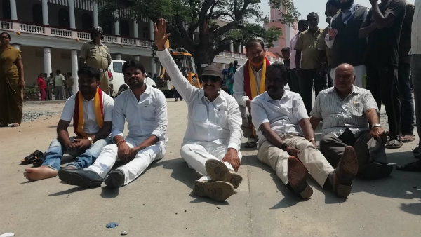 Vatal nagraj protest against governments plan of giving land to Jindal