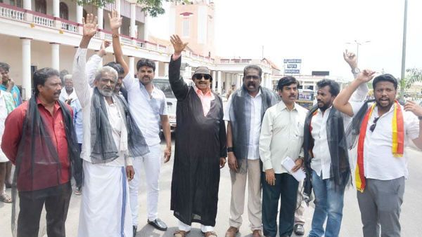 Vatal nagraj protesting against the formation of the cauvery authority