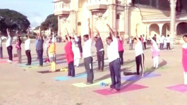 Mysuru city corporation members not willing to participate in yoga day workout