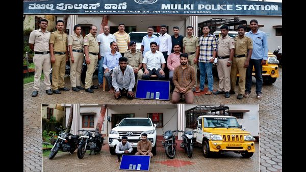 Mangaluru police arrested Gang of car thieves
