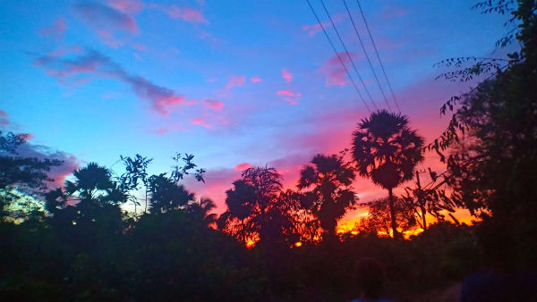 monsoon colorful sky in coastal belt