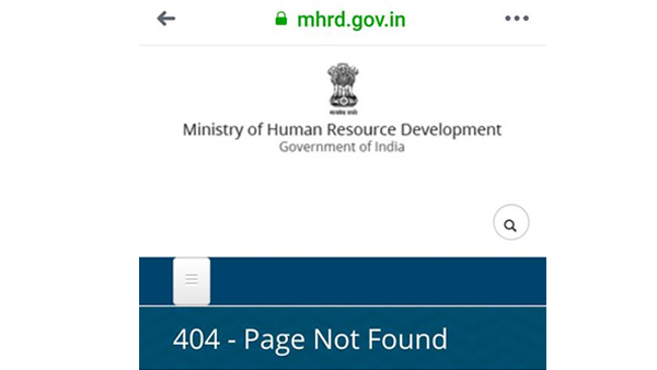 Centres 3 language Draft Education Plan vanishes from HRD Website