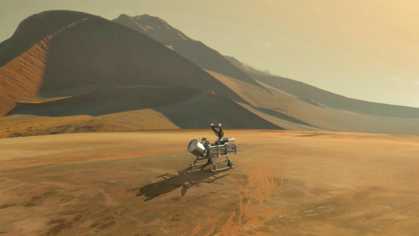 Nasa aims to send dragonfly drone to saturn moon titan search for life