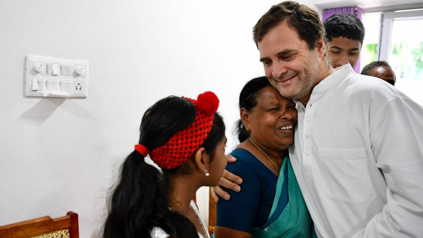 Rahul Gandhi met nurse Rajamma, who was present at the time of his birth