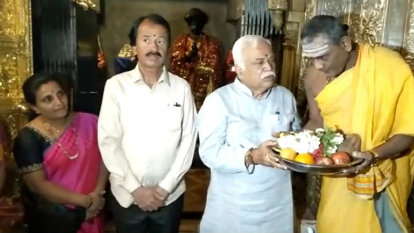 Minister RV Deshpande refuses to react on KPCC Discharge