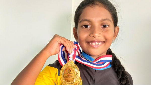 Mangaluru girl bags 3 gold medals in skating