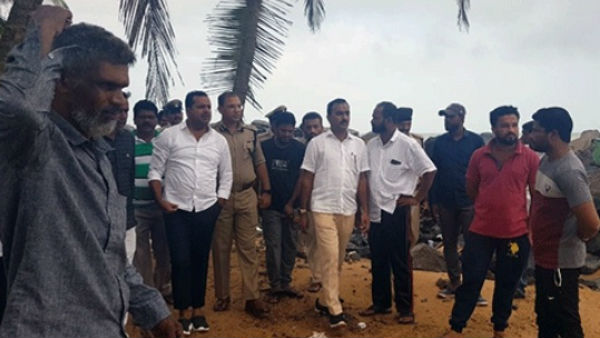 UT Khader visited sea erosion affected places in mangaluru