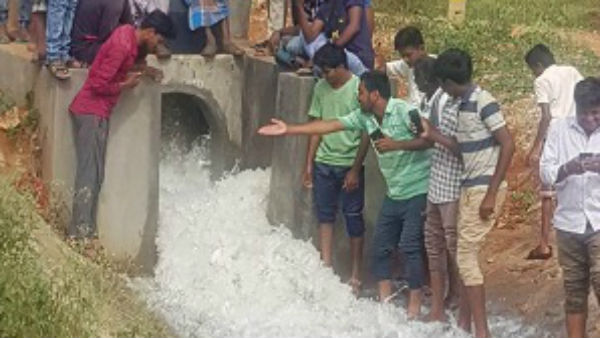 Waddagere Lake in Gundlupet taluk at last gets water