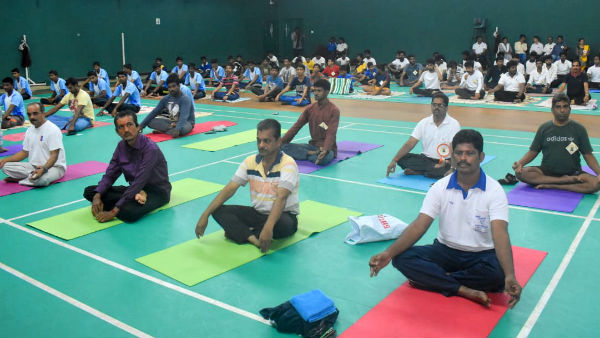 no proper response for international Yoga day in udupi
