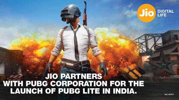Reliance Jio with PUBG Corp launch PUBG LITE get free goodies